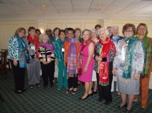 St, Mary's Womens Group with their beautiful scarves