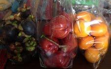 mangosteen, rose apple, tangerines