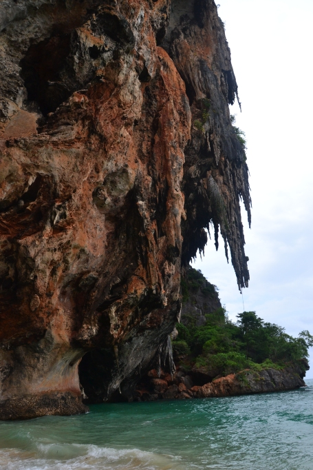 Railay Bay known for its rock climbing