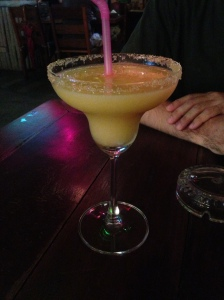 Spicy Mango Margarita= best thing ever!  made with fresh local mango, imported tequila and Tabasco.  the heat doesn't hit you until after you take the drink! amazing! signature drink at crazy gringo downtown Ao Nang