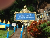the number of stairs to get to the top to see the golden Buddha (sorry for the thumb)