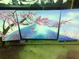 the painting we had made! love Japanese cherry blossoms!