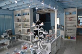 Inside Sparkles, cookies & cupcakes on display.