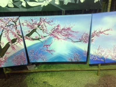 commissioned painting: i just love cherry blossoms