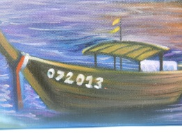 the longtail boat has the date we traveled