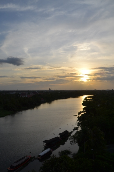 sunset over the Ta-Chin River
