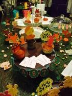 woodland creature party setup